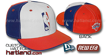 Knicks 'LOGOMAN' White-Royal-Orange Fitted Hat by New Era