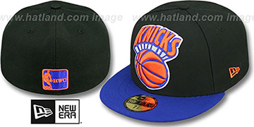 Knicks MIGHTY-XL Black-Royal Fitted Hat by New Era