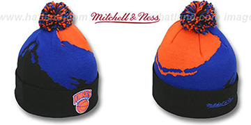 Knicks PAINTBRUSH BEANIE by Mitchell and Ness