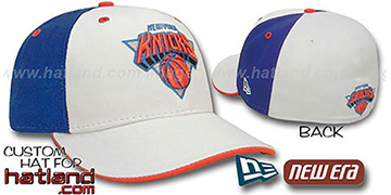 Knicks 'PINWHEEL' White-Royal Fitted Hat by New Era