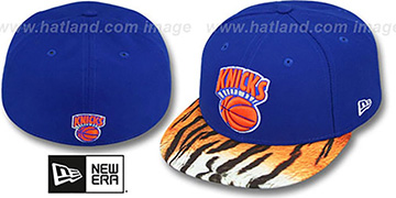 Knicks REAL TIGER VIZA-PRINT Royal Fitted Hat by New Era