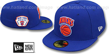 Knicks 'SIDE TEAM-PATCH' Royal Fitted Hat by New Era
