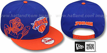Knicks 'SIDE-TEAM' SPIDERMAN SNAPBACK Hat by New Era