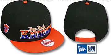 Knicks 'SPLIT-BLOCK SNAPBACK' Black-Orange Hat by New Era
