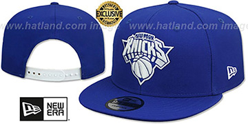 Knicks TEAM-BASIC SNAPBACK Royal-White Hat by New Era