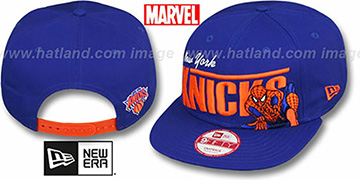 Knicks TEAM-HERO SNAPBACK Royal Hat by New Era