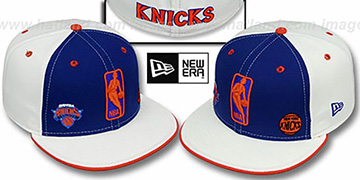 Knicks TRIPLE THREAT Royal-White Fitted Hat by New Era