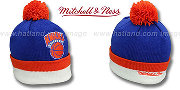 Knicks XL-LOGO BEANIE Royal by Mitchell and Ness