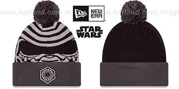 Kylo Ren 'GALLACTIC BIGGIE' Black-Grey Knit Beanie Hat by New Era
