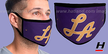 LA SCRIPT Purple-Gold Washable Fashion Mask by Hatland.com