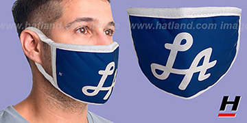LA SCRIPT Royal-White Washable Fashion Mask by Hatland.com