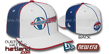 LA Stars 'OLD SCHOOL PINWHEEL-3' White-Royal Fitted Hat
