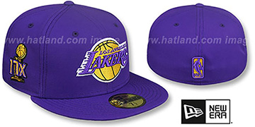 Lakers '17X CHAMPION TROPHY' Purple Fitted Hat by New Era