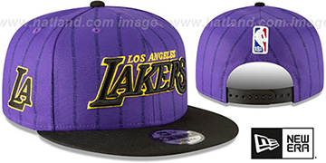 Lakers '18-19 CITY-SERIES SNAPBACK' Purple-Black Hat by New Era