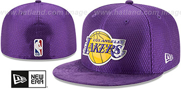 Lakers 2017 ONCOURT DRAFT Purple Fitted Hat by New Era