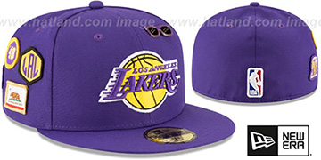 Lakers 2018 NBA DRAFT Purple Fitted Hat by New Era
