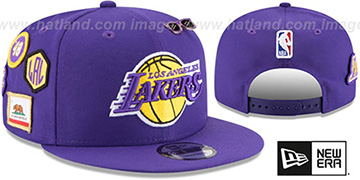Lakers '2018 NBA DRAFT SNAPBACK' Purple Hat by New Era