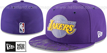 Lakers 2018 NBA ONCOURT ALL-STAR Purple Fitted Hat by New Era