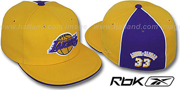 Lakers 'ABDUL-JABBAR SWINGMAN' Gold-Purple Fitted Hat by Reebok