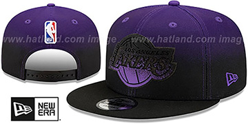 Lakers BACK HALF FADE SNAPBACK Hat by New Era