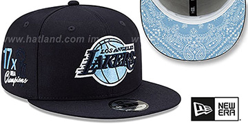 Lakers 'BANDANA SKY BOTTOM SNAPBACK' Navy Hat by New Era