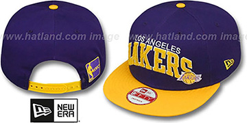 Lakers CHENILLE-ARCH SNAPBACK Purple-Gold Hat by New Era
