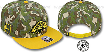 Lakers CHENY CAMPER STRAPBACK Hat by Twins 47 Brand