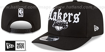 Lakers 'CLASSIC-CURVE SNAPBACK' Black Hat by New Era