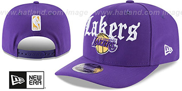Lakers 'CLASSIC-CURVE SNAPBACK' Purple Hat by New Era