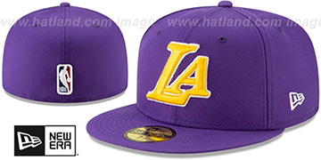 Lakers 'DECEPTORED' Purple Fitted Hat by New Era