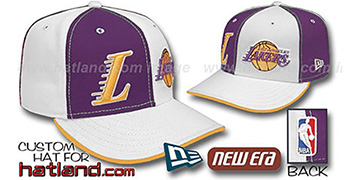 Lakers 'DOUBLE WHAMMY' Purple-White Fitted Hat