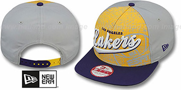 Lakers ESPN BRICK A-FRAME SNAPBACK Hat by New Era