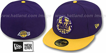 Lakers 'ESPN INNER LOCKED' Purple-Gold Fitted Hat by New Era