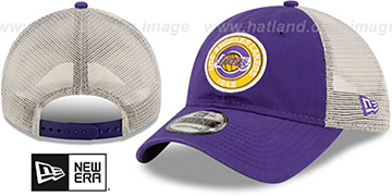 Lakers ESTABLISHED CIRCLE TRUCKER SNAPBACK Hat by New Era