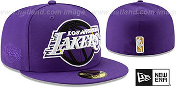 Lakers 'FRAME-FRONT' Purple Fitted Hat by New Era