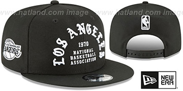 Lakers 'GOTHIC-ARCH SNAPBACK' Black Hat by New Era