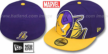 Lakers HERO-HCL Purple-Gold Fitted Hat by New Era
