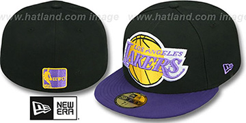 Lakers 'MIGHTY-XL' Black-Purple Fitted Hat by New Era
