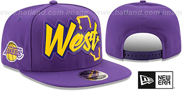 Lakers 'NBA ALL-STAR CONFERENCE BEVEL SNAPBACK' Hat by New Era