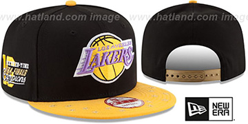 Lakers 'NBA STAR-TRIM SNAPBACK' Black-Gold Hat by New Era