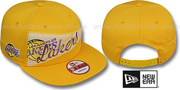 Lakers 'PENNANT SNAPBACK' Gold Hat by New Era