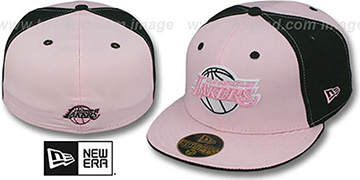 Lakers 'PINWHEEL' Light Pink-Black Fitted Hat by New Era