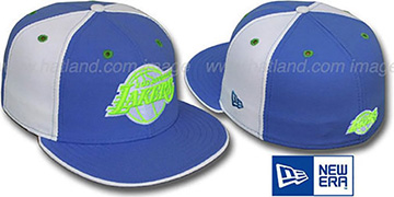 Lakers 'PINWHEEL' Lime-Sky-White Fitted Hat by New Era