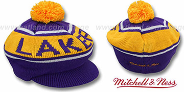 Lakers RERUN KNIT BEANIE by Mitchell and Ness
