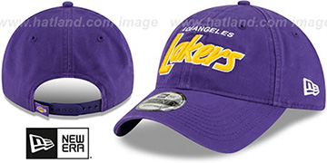 Lakers 'RETRO-SCRIPT SNAPBACK' Purple Hat by New Era