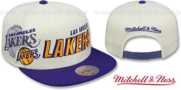 Lakers 'SHADOW DRAFT SNAPBACK' Hat by Mitchell and Ness