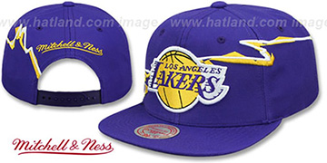 Lakers 'SWIFTER SNAPBACK' Purple Hat by Mitchell and Ness