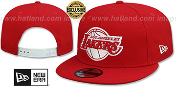 Lakers 'TEAM-BASIC SNAPBACK' Red-White Hat by New Era