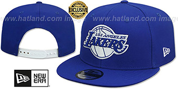 Lakers TEAM-BASIC SNAPBACK Royal-White Hat by New Era