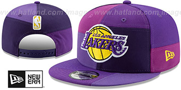 Lakers TEAM PATCHWORK SNAPBACK Hat by New Era